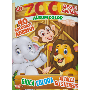 Toys2 Sticker Game - Lo Zoo Degli Animali - Album color - n. 36 - bimestrale - 14 novembre 2019 -