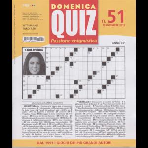 Domenica Quiz - n. 51 - 19 dicembre 2019 - settimanale