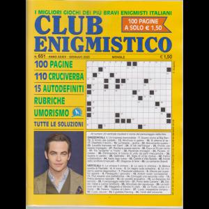 Club enigmistico - n. 651 - gennaio 2020 - 100 pagine