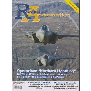 Rivista Aeronautica - n. 5 - settembre - ottobre 2019 - bimestrale - 144 pagine