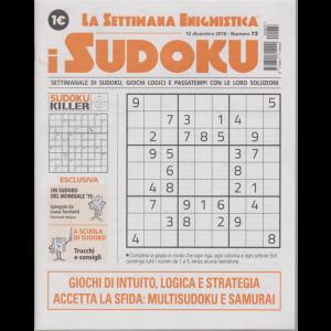 La settimana enigmistica - i sudoku - n. 73 - 12 dicembre 2019 - settimanale