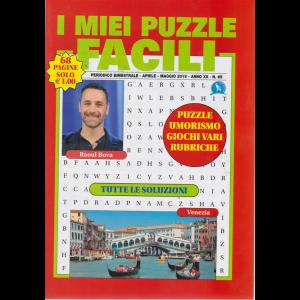 I miei puzzle facili - n. 65 - bimestrale - aprile - maggio 2019 - 68 pagine