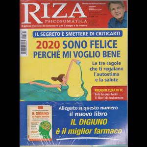 Riza Psicosomatica - + il libro Il digiuno è il miglior farmaco - n. 467 - mensile - gennaio 2020 - rivista + libro