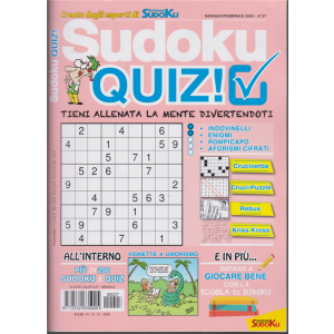 Sudoku quiz! n. 27 - mensile - 15/1/2020