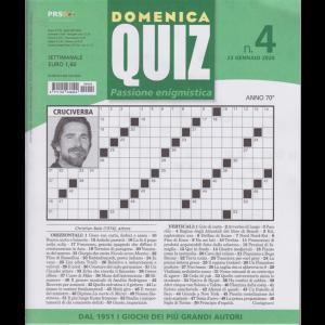 Domenica quiz - n. 4 - 23 gennaio 2020 - settimanale