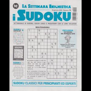 La settimana enigmistica - i sudoku - n. 78 - 16 gennaio 220 - settimanale