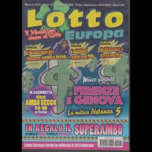 Lotto Europa - n. 1 - mensile - gennaio 2020 -
