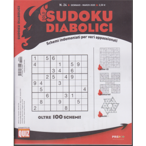 Solo sudoku diabolici - n. 24 - gennaio - marzo 2020 - trimestrale