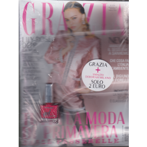 Grazia - n. 6 - settimanale - 23/1/2020 - + Smalto Deborah Milano