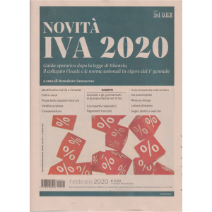 Novità IVA 2020 - n. 1 - febbraio 2020 - mensile