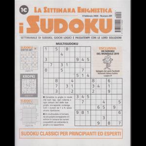 La settimana enigmistica - i sudoku - n. 81 - 8 febbraio 2020 - settimanale