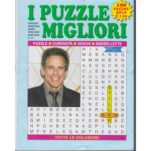 I puzzle migliori - n. 174 - bimestrale - marzo - aprile 2020 - 196 pagine