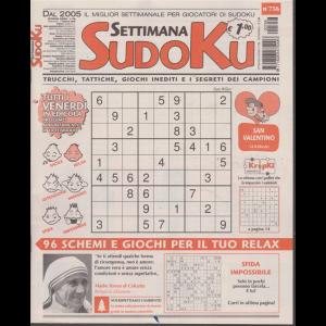 Settimana sudoku - n. 756 - settimanale - 7 febbraio 2020 -