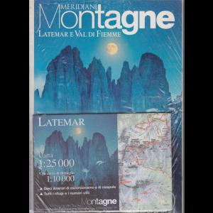 Meridiani montagne - Latemar e Val di Fiemme - n. 60 - bimestrale- gennaio 2013 - + carta 1:25000 con carta di dettaglio 1:10000