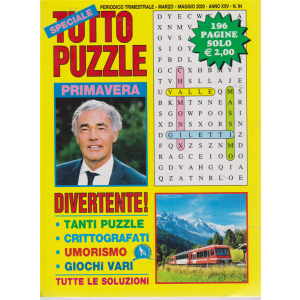 Speciale Tutto puzzle - n. 94 - trimestrale - marzo - maggio 2020 - 196 pagine