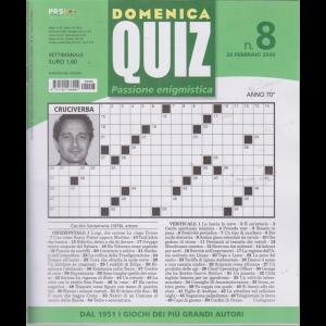 Domenica quiz . n. 8 - 20 febbraio 2020 - settimanale