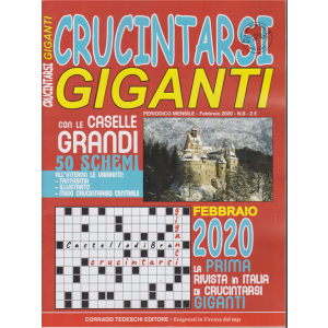 Crucintarsi giganti - n. 8 - mensile - febbraio 2020 -