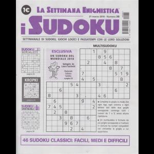 La settimana enigmistica - I sudoku - n. 35 - 21 marzo 2019 - settimanale