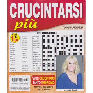 Crucintarsi Piu' - n. 15 - bimestrale - marzo - aprile 2019 - Antonella Clerici