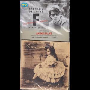 Le raccolte musicali di Sorrisi n. 7 - 18 febbraio 2020 - Fabrizio De Andrè - uscita n. 20 - Anime salve - cd + libretto inedito - settimanale