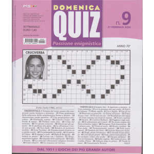 Domenica quiz - n. 9 - settimanale - 27 febbraio 2020 -