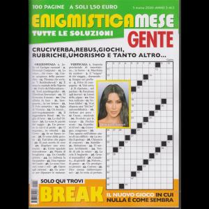 Enigmistica Mese Gente - n. 3 - 5 marzo 2020 - 100 pagine