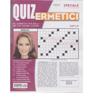 Quiz Ermetici - n. 2 - trimestrale - dicembre 2019 febbraio 2020