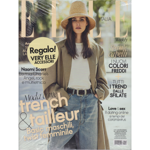 Elle - + Very Elle Accessori in regalo - n. 10 - 21/3/2020 - settimanale - 2 riviste