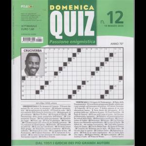 Domenica Quiz - n. 12 - settimanale - 19 marzo 2020 -