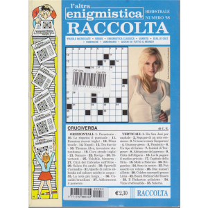 Raccolta L'altra enigmistica - n. 58 - bimestrale - aprile - maggio 2018