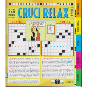 Cruci Relax - n. 190 - mensile - 14/3/2020 -