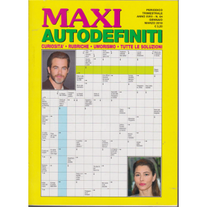 Maxi Autodefiniti - n. 64 - trimestrale - gennaio - marzo 2018 -
