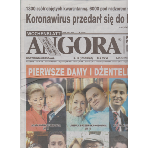 Angora - n. 11 - 9-15-3/2020 - in lingua polacca