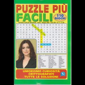 Puzzle Piu' Facili - n. 71 - bimestrale - aprile - maggio 2020 - 110 giochi