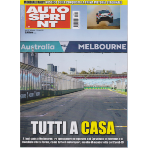 Autosprint - n. 11 - settimanale - 17/23 marzo 2020