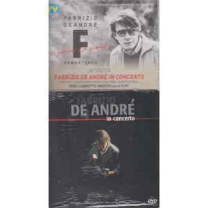 Le raccolte musicali di Sorrisi n. 11 - 17 marzo 2020 - Fabrizio De Andrè - uscita - n. 24 - Fabrizio De Andrè in concerto - dvd + libretto inedito -