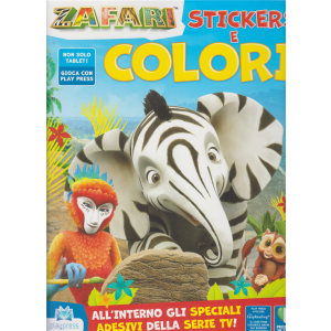 Zafari Stickers e colori - n. 2 - aprile - maggio 2020 - bimestrale -