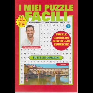 I miei puzzle  facili - n. 71 - bimestrale - aprile - maggio 2020 - 68 pagine