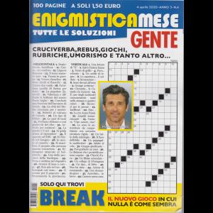 Enigmistica mese Gente - n. 4 - 4 aprile 2020 - 100 pagine