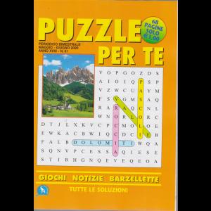 Puzzle per te - n. 61 - bimestrale - maggio - giugno 2020 - 68 pagine