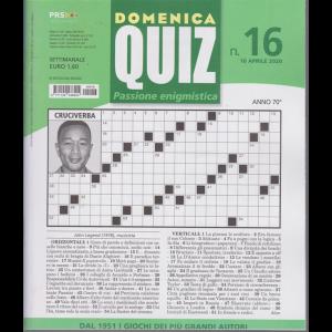Domenica Quiz - n. 16 - settimanale - 16 aprile 2020