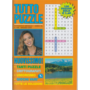 Tutto Puzzle - n. 468 - mensile - maggio 2020 - 100 pagine