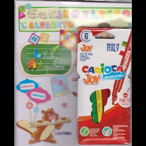 Imparo e leggo l'alfabeto - + 6 pennarelli Carioca - n. 3 - trimestrale - maggio/giugno/luglio 2020 -