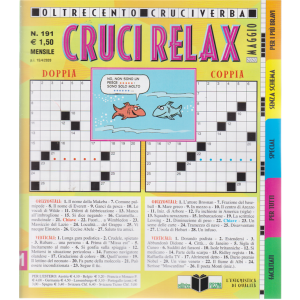 Cruci Relax - n. 191 - mensile - 15/4/2020 - oltre cento cruciverba