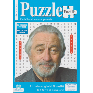 Raccolta Puzzle facile - n. 39 - bimestrale - 14/4/2020 - Robert Deniro