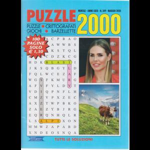 Puzzle 2000 - n. 349 - mensile - maggio 2020 - 100 pagine