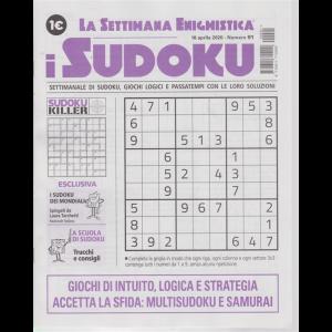 La settimana enigmistica - i sudoku - n. 91 - 16 aprile 2020 - settimanale