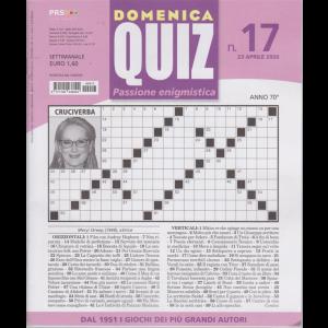 Domenica Quiz - n. 17 - 23 aprile 2020 - settimanale