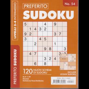 Preferito Sudoku - n. 54 - livelli 3-4 intermedio - bimestrale -