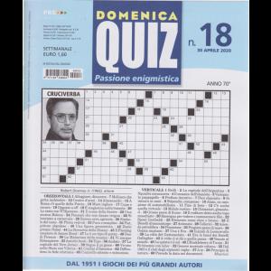 Domenica Quiz - n. 18 - 30 aprile 2020 - settimanale